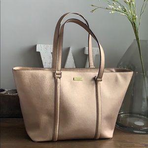Kate Spade Large shoulder tote bag Rose Gold